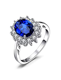 Jewelrypalace Diana Created Alexandrite Sapphire Created Ruby Created Sapphire Nano Russian Simulated Emerald 925 Sterling Silver Ring