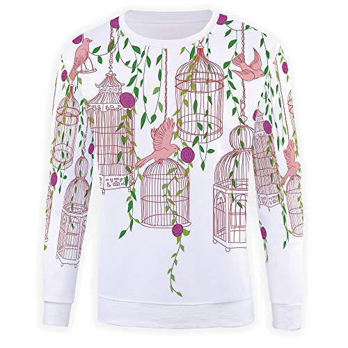 3D Print Flying Birds Decor Pullover Sweater