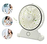 HOPESOOKY Handheld Misting Fans Battery Operated Portable Water Spray Cooling Mist Humidifier Fan for Travel, Home, and Office