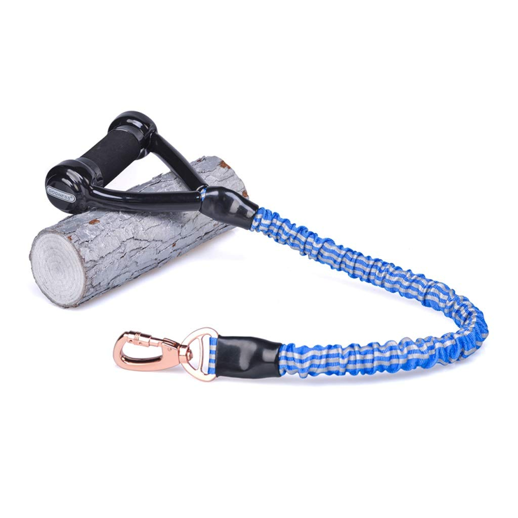 bluee Medium bluee Medium Triangle Handle Traction Rope Anti-running Dog Leash Suitable For Medium And Large Dogs Reflective Strip Design Can Be Used For Night Travel Night Run KGMYGS (color   bluee, Size   M)