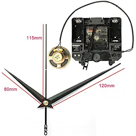 R Silent Movement with Music Chime Box Plastic Quartz mechanism with 2#  hands & Pendulum drive units DIY Clock Accessory Kits