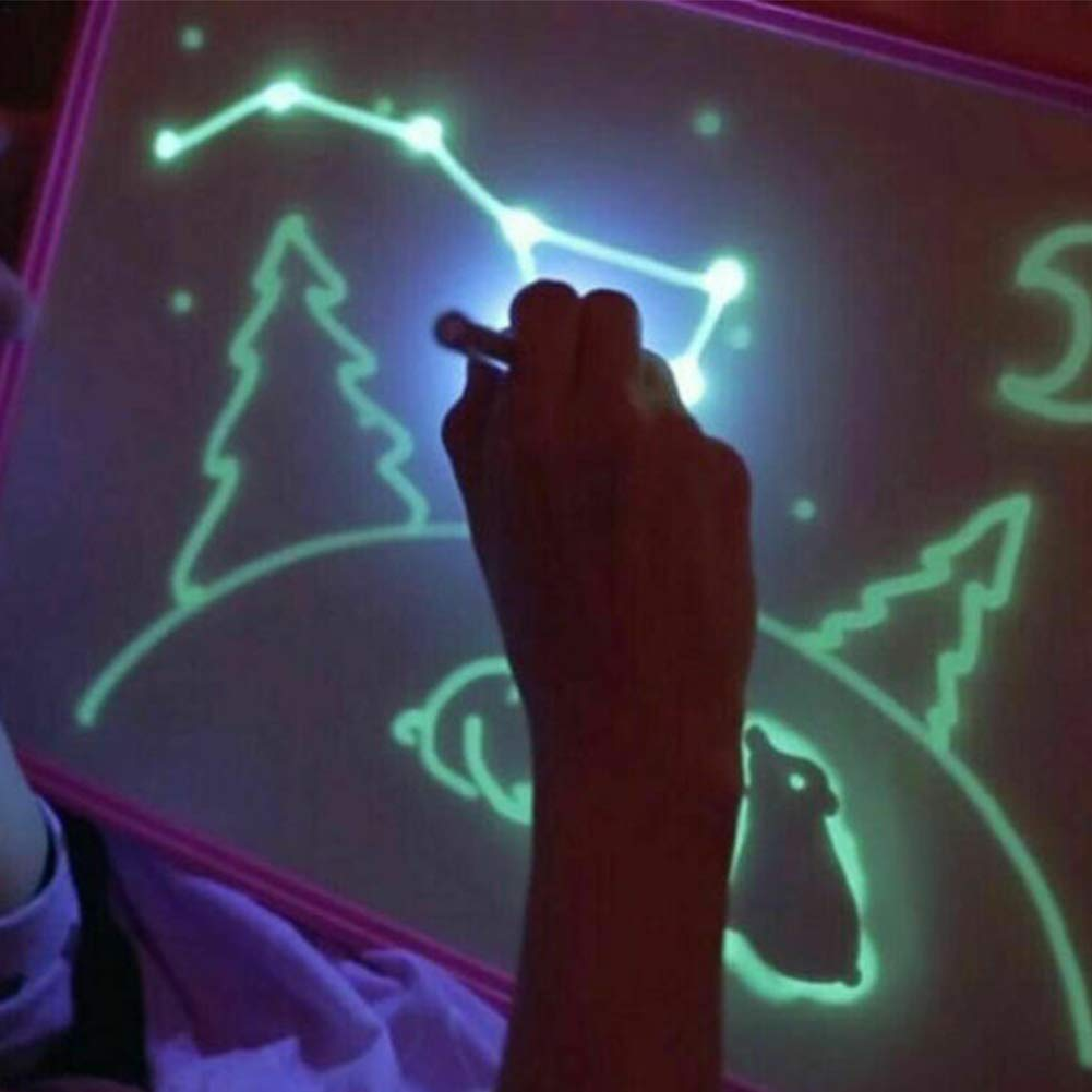 L 11.8 x 16.9 Light Drawing Doodle Board Toy Draw with Light-Fun Kids Paint Toy Light Drawing Pad Developing Toy