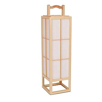 D'étude De Pin À Simple Salle Lampe Japonais Lampadaire Bois En n8vNw0m
