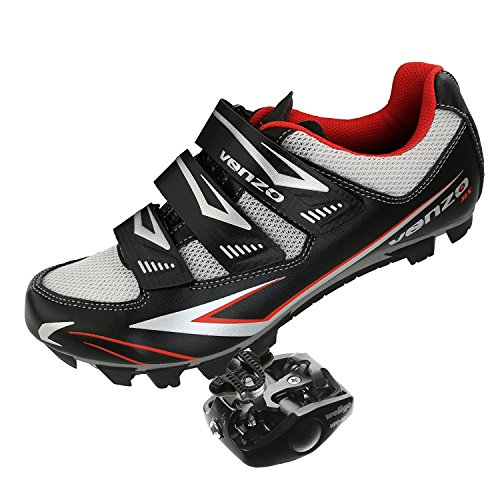 Venzo Mountain Bike Bicycle Cycling Shimano SPD Shoes + Pedals & Cleats