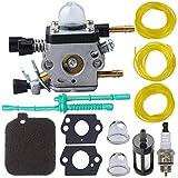 BG55 Carburetor for Stihl BG45 BG65 BG85 Leaf Blower Zama C1Q-S68 C1Q-S68G with Air Filter Tune Up Kit by TOPEMAI