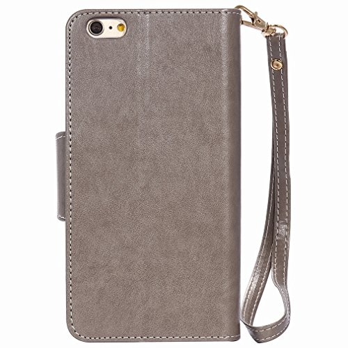 Yiizy Apple IPhone 6s Plus IPhone 6 Plus Funda, Chica Repujado Diseño Solapa Flip Billetera Carcasa Tapa Estuches Premium PU Cuero Cover Cáscara Bumper Protector Slim Piel Shell Case Stand Ranura para