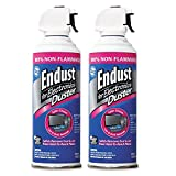 Endust 248050 Non-Flammable Duster with Bitterant, 10 oz, 2 Cans/Pack