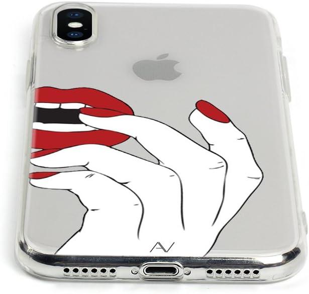 Blink /& Kiss AVANA iPhone 7 Plus//iPhone 8 Plus H/ülle Schutzh/ülle Flexibles Case Schutz Durchsichtige Tasche Transparente Silikon TPU Schale D/ünne Muster Handyh/ülle Cover Motiv