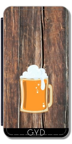 Leder Flip Case Tasche Hülle für Apple Iphone 7 Plus / 8 Plus - Bier by hera56
