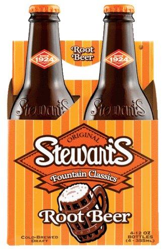 - Stewart's Root Beer Soda 12 oz. - Diet, 4 ct