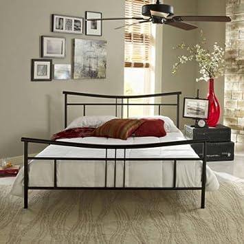 Amazon.com: Premier Annika Metal Platform Bed Frame Twin, Black with ...