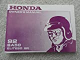 Honda 1992 SA50 SA 50 Elite 50 SR Original Owners Manual