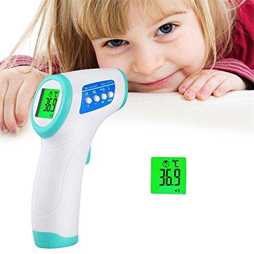 Zantec Temperatura de term/ómetro Dispositivo de medici/ón sin contacto del cuerpo a la frente infrarroja de la electr/ónica al ni/ño o beb/é