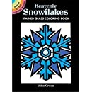 Heavenly Snowflakes Stained Glass Coloring Book (Dover Stained Glass Coloring Book)