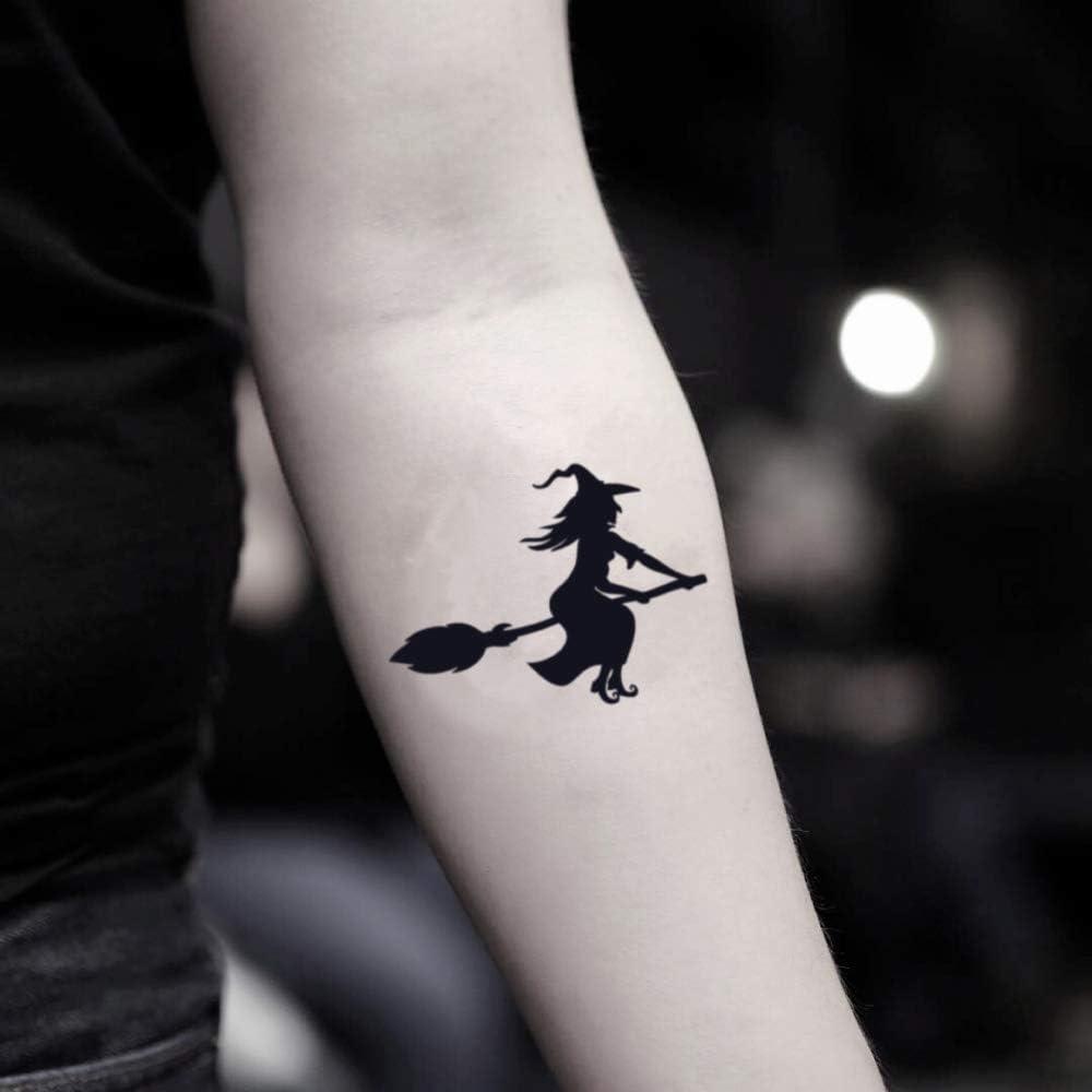 Tatuaje Temporal de Bruja de halloween (2 Piezas) - www.ohmytat ...