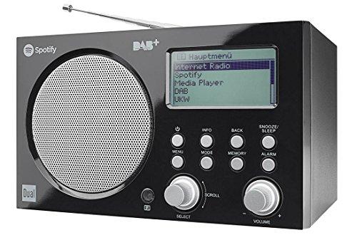 Dual IR 7 S Internetradio mit Spotify-Connect (DAB(+)/UKW-Radio, PC/MAC Musikstreaming, UNDOK remote App, USB-Anschluss, Uhr/Weckfunktion, Kopfhöreranschluss, Fernbedienung) schwarz