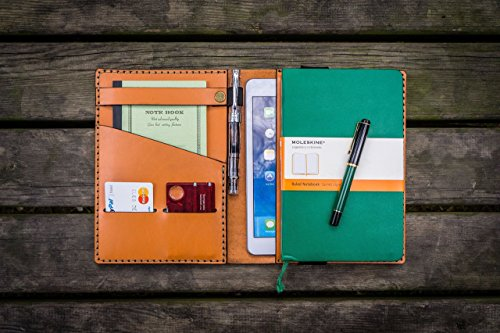Embossed Portfolio Mini (iPad Mini & Large Moleskine Cover - Orange)