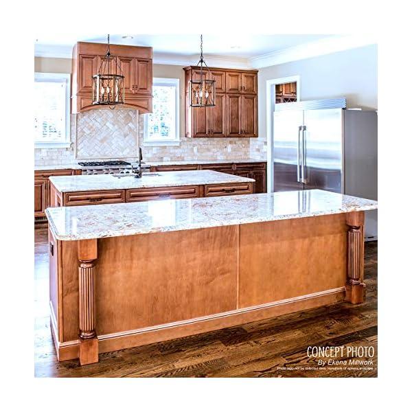 Ekena Millwork COL03X03X35KERW 3 3/4-Inch W x 3 3/4-Inch D x 35 1/2-Inch H Kent Raised Panel Cabinet Column, Rubberwood