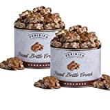 FERIDIES Homemade Peanut Brittle Crunch - 2 Pack 18oz Cans