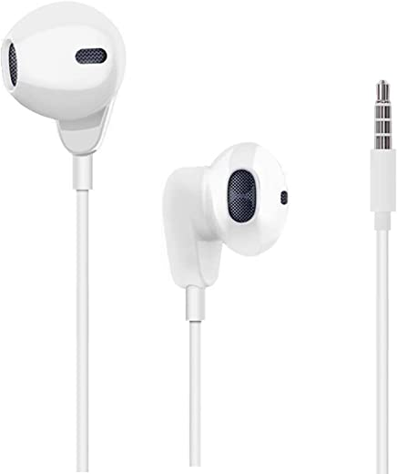 Earbuds, 3.5mm Wired Microphone Earphones Stereo Headphones Noise Isolating Headset Compatible with iPhone 6S/6S Plus/6/6 Plus/SE/5S/5C/5/4S/4/ipad/MP3/MP4/PC (2 Pack)
