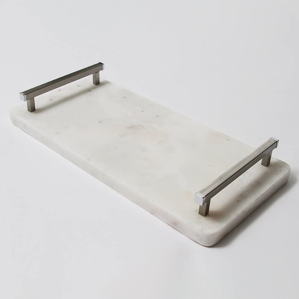 """14"""" White Marble Board with Handles"""