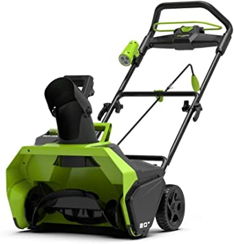Greenworks 2600007 Battery Powered Snow Blower Without Battery And Charger 40 V Baumarkt