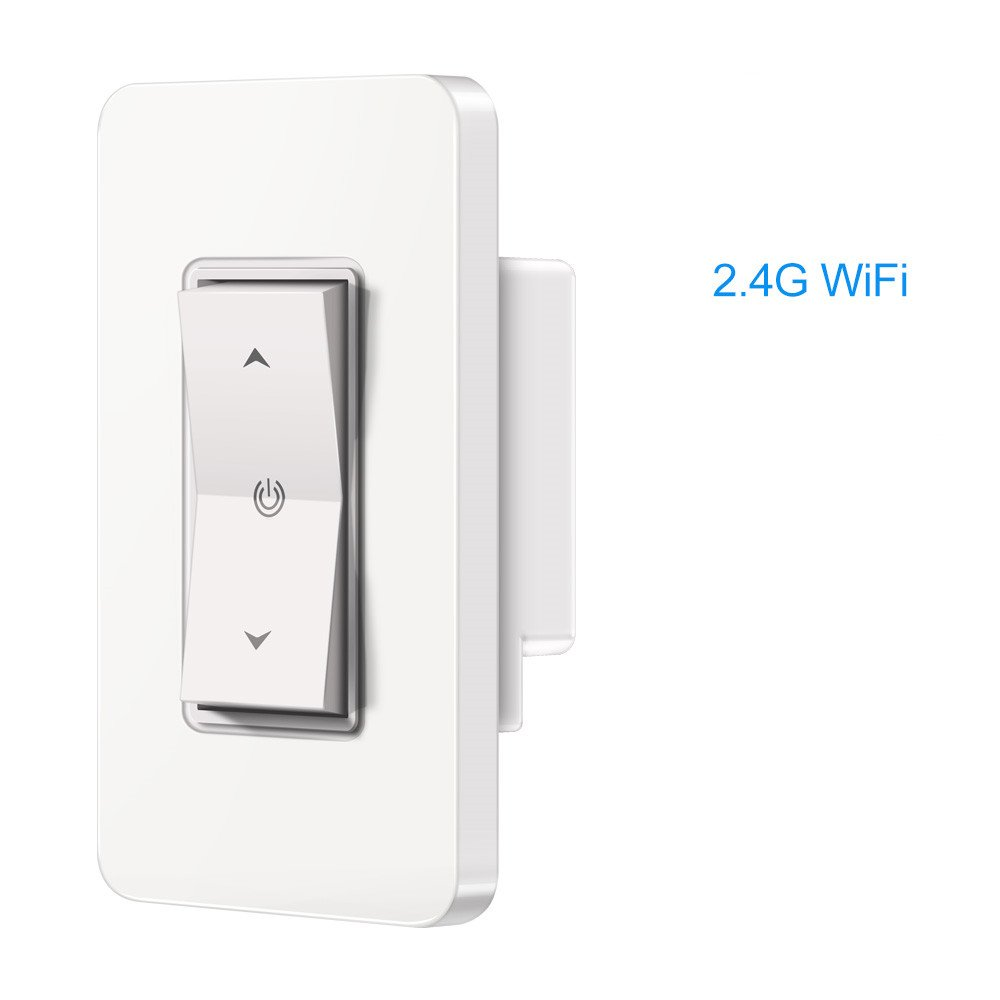 Clearance Smart WI-FI Light Switch[2018Upgraded]- Wireless Dimmer Switch Compatible with Alexa, Google Assistant, Control By Phone APP, No Hub Required, Timing Function, Easy In-Wall Installation