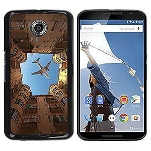 Be Good Phone Accessory // Dura Cáscara cubierta Protectora Caso Carcasa Funda de Protección para Motorola NEXUS 6 / X / Moto X Pro // City Sky Building Rome Metaphor