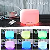 Ultrasonic air humidifier,Aroma Humidifier 300ml 7 Color LED Lights (Great For Baby, Light Sleeper, Home, and Office) with ON/Off Remote Control