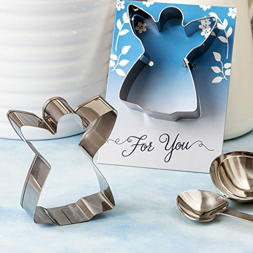 96 Shiny Silver Metal Guardian Angel Themed Cookie Cutters by Fashioncraft