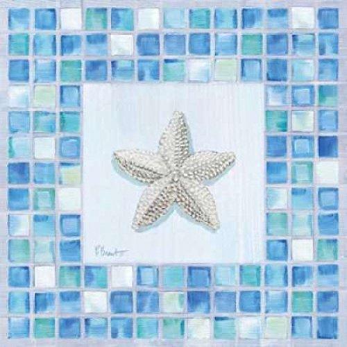 - Posterazzi Mosaic Starfish Poster Print by Paul Brent (12 x 12)