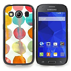 Stuss Case / Funda Carcasa protectora - Teal White Paper Kids Arte - Samsung Galaxy Ace Style LTE/ G357