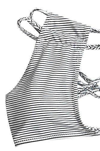 CUPSHE Women's Love More Stripe Bikini Set Beach Swimwear Bathing Suit (M) by CUPSHE (Image #2)