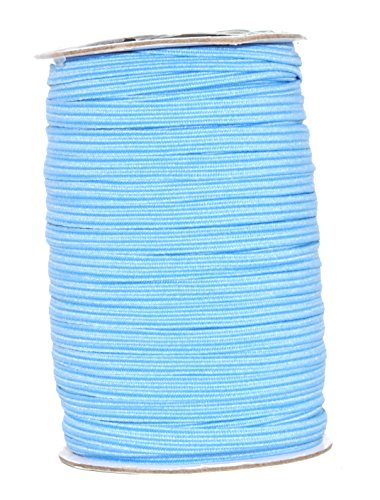 - Mandala Crafts Flat Elastic Band, Braided Stretch Strap Cord Roll for Sewing and Crafting (1/4 inch 6mm 50 Yards, Sky Blue)