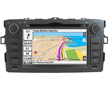 "2DIN 7"" TOYOTA AURIS: NAVEGADOR GPS, MANOS LIBRES BLUETOOTH, CD, DVD"