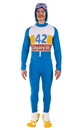 Image result for Adult 1980s Eddie the Eagle Costume