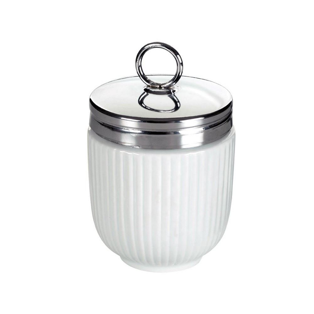 The DRH Egg Coddler With White Stripes is Used As an Egg Cooker and is an Easy Way To Cook Eggs