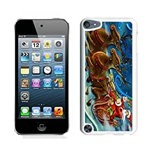 Personalization Santa Claus and deer White iPod Touch 5 Case 1