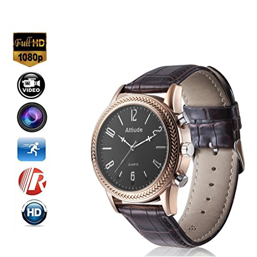Miebul 16GB Wrist Smart Watch Camera HD 1080P Infrared Night