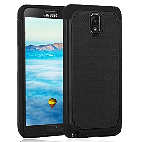 Galaxy Note 3 Case,Jaweke [Drop Protection] [Shock Proof] Soft TPU + Hard PC High Impact Hybrid Dual Layer Armor Defender Rugged Protective Slim Case Shell For Samsung Galaxy Note (Galaxy Note 3 Phone Case Black)