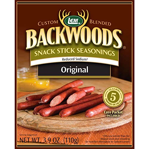 LEM 9161 Backwoods Low Sodium Snack Stick Seasoning (5-Lbs) ()