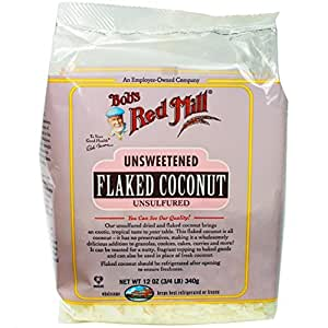 Bob's Red Mill - Unsweetened, Unsulfered Coconut Flakes, 12 Ounces (Pack of 4)