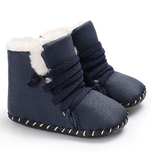 Pictures of Fnnetiana Winter PU Thickened Warm Boots Half 1