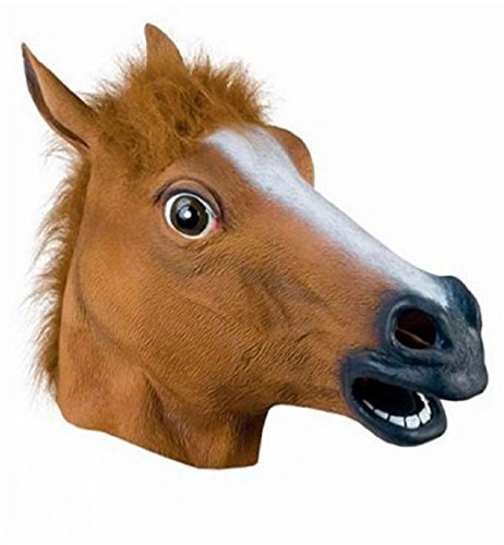 Narrower Halloween Horse Head Mask Creepy Costume Theater Prop Masquerade Party (Horse Mask Child)