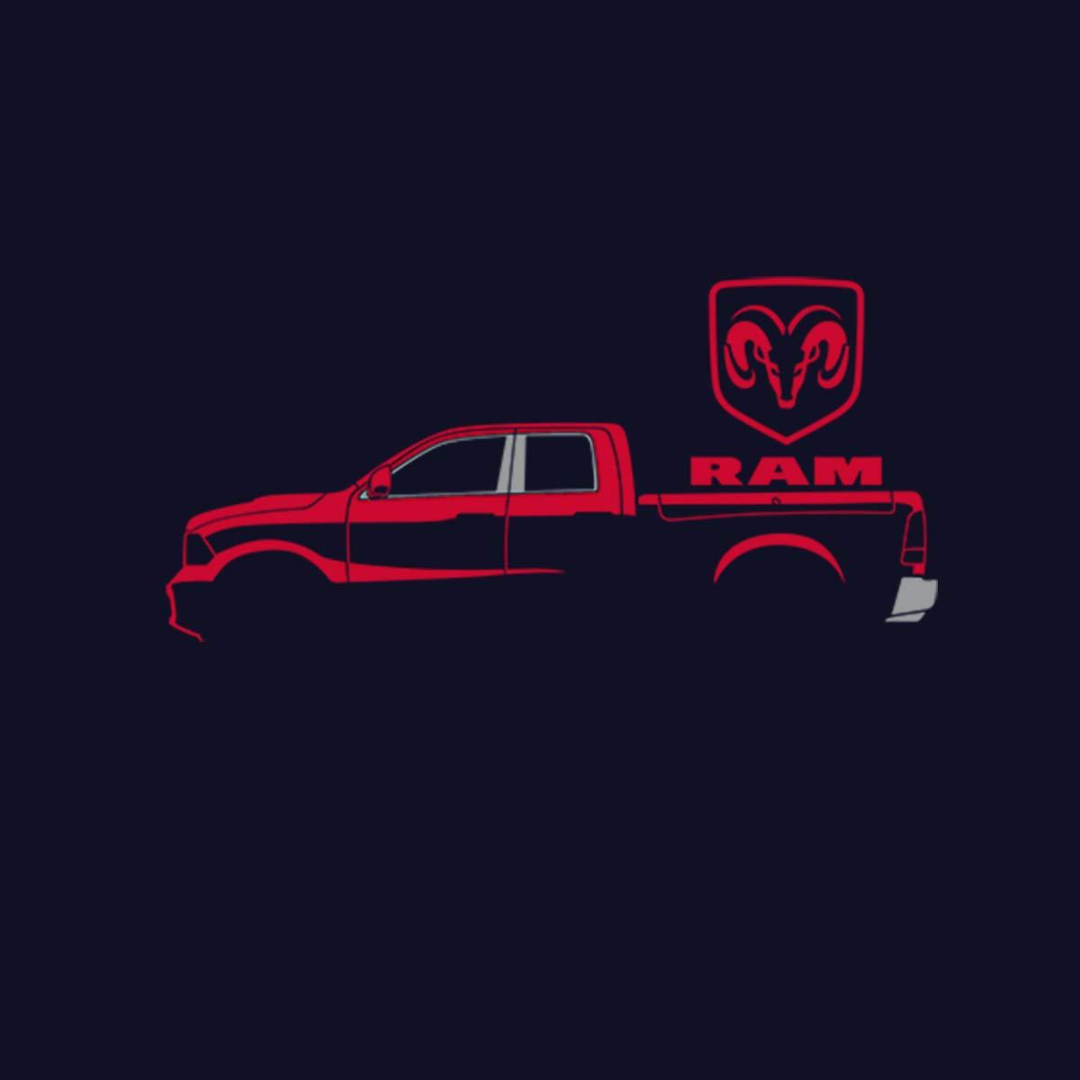 avocadoWEAR Dodge Red Ram Hemi Pickup Herren Sweatshirt S-3XL