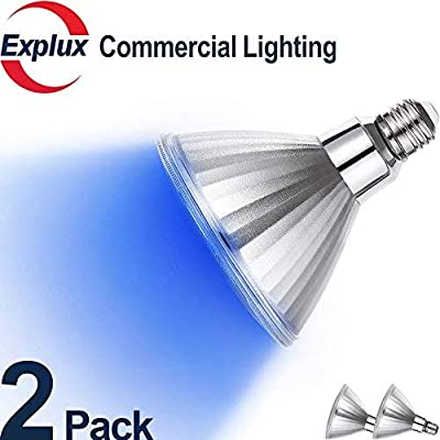 Explux Dimmable Color LED PAR38 Flood Light Bulbs