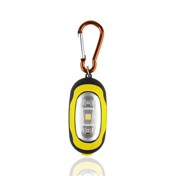 RUNGAO Llavero Linterna mosquetón bolsillo magnético pequeño llavero brillante Led linterna de 3 modos