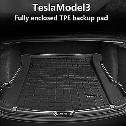 Car Trunk Mat for Tesla Model 3 Cargo Liner Rear Heavy Duty Womdee Cargo Tray Trunk Floor Mat Protector TPE Car Trunk Cushion Pad for Tesla Model 3 Odorless