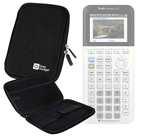 Hard Black Portable EVA Case with Zipper for the Texas Instruments TI 83 Premium CE - by DURAGADGET