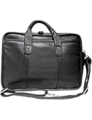 Canyon Outback Glacier Canyon 16-Inch Slim-Line Briefcase, Black, One Size